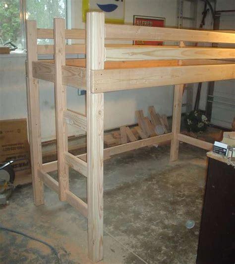 woodwork loft bunk bed design plans  plans