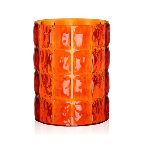 Orange Vases Accessories Buy Kartell Matelasse Vase Orange Amara