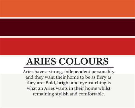 aries colors colour schemes to suit aries how to use them in your
