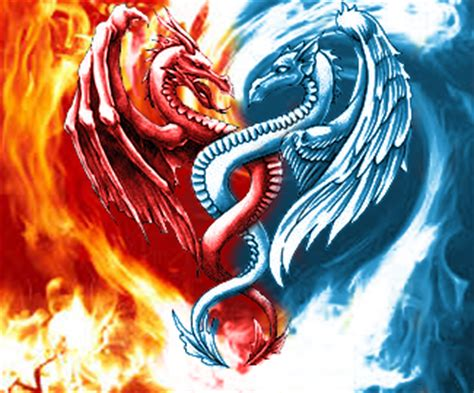 fire and ice tattoo designs pin dragons 51474jpeg on