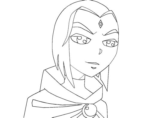 raven teen titan free coloring pages