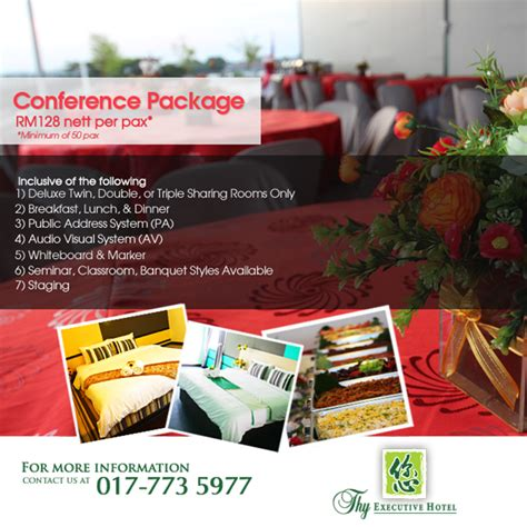 Room Packages by Conference Package Thy Executive Hotel Plentong Johor