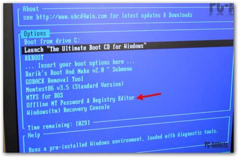 windows reset password registry editor boot cd reset administrator password