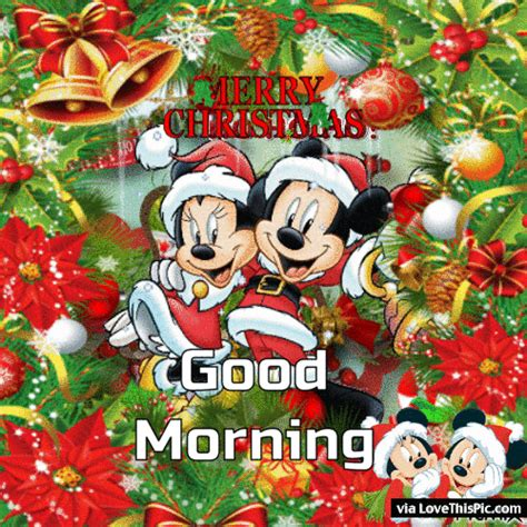 merry christmas good morning disney gif pictures   images  facebook tumblr