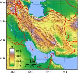 geographical map of physical map of iran