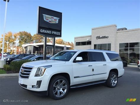 cadillac jeep 2017 white 2017 crystal white tricoat cadillac escalade esv luxury