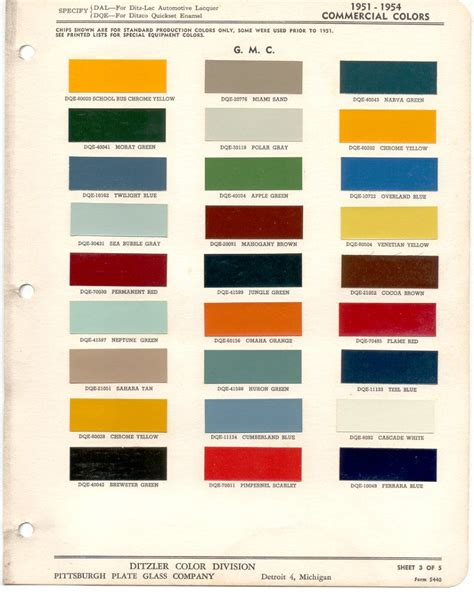 1953 gm gmc exterior paint chips previous page next