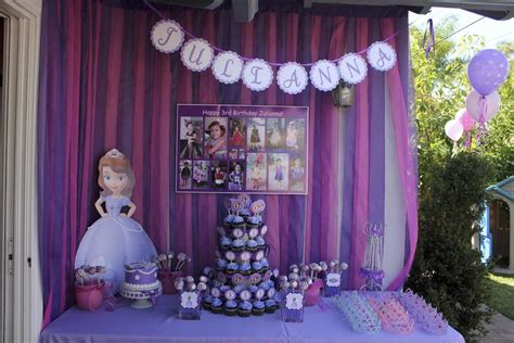 Princess Sofia Decorations by Princess Sofia Birthday Ideas Photo 1 Of 18