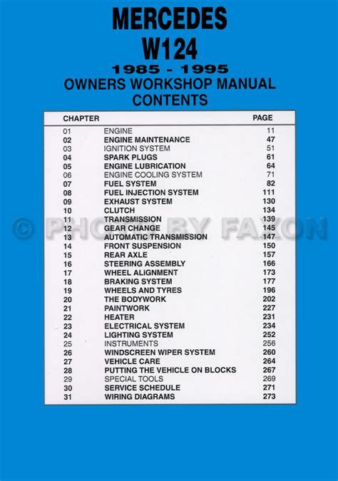 mercedes benz w124 service and repair manual 1985 1995 1985 1995 mercedes e class w124 owners workshop manual worldwide not us