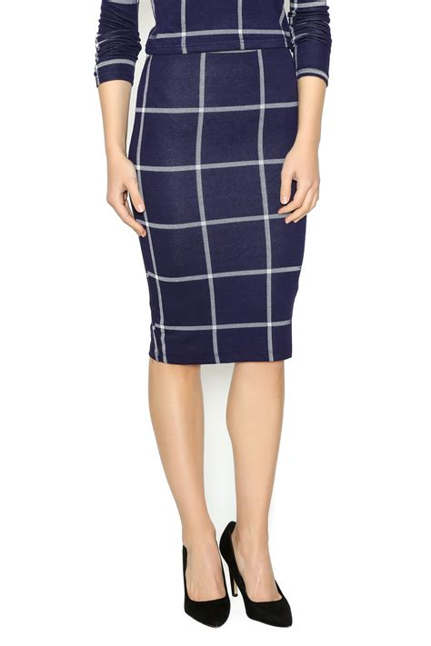 iris blue white plaid skirt from michigan by lifted