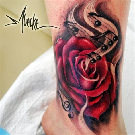 rose and music tattoo best 25 sleeve tattoos ideas on how to