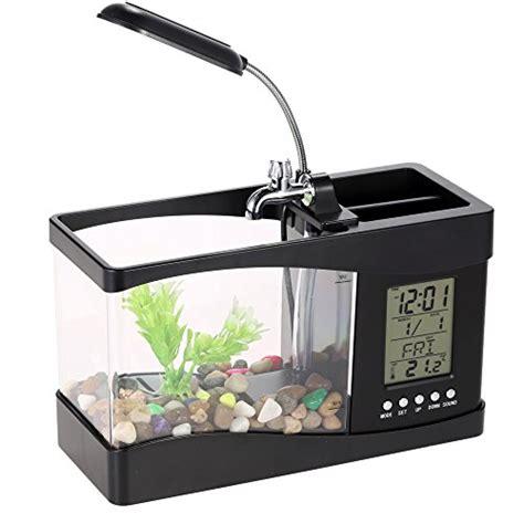 Lu Led Aquarium Mini docooler usb desktop mini fish tank aquarium with led