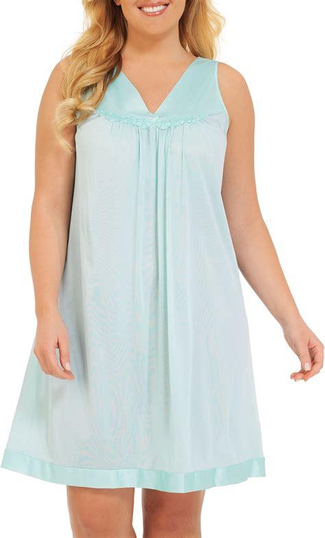 vanity fair sleeveless v neck nightgown ebay