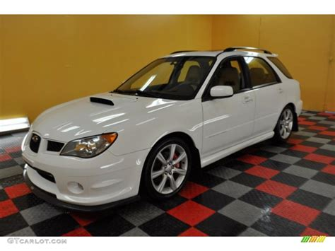 white subaru wagon 2006 aspen white subaru impreza wrx wagon 31332128 photo