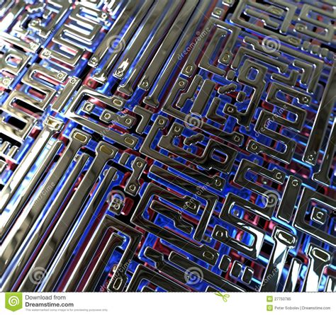 integrated circuits and microchips are built using layers of abstract circuit inside microchip royalty free stock photo