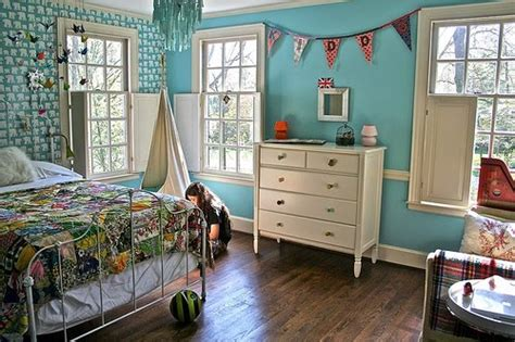 tomboy room s room aqua blue design dazzle