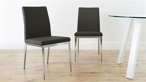 dining chairs with metal legs modern dining chair brushed metal legs uk delivery
