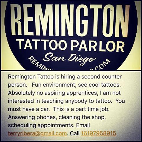 tattoo parlor hiring hiring remington tattoo parlor
