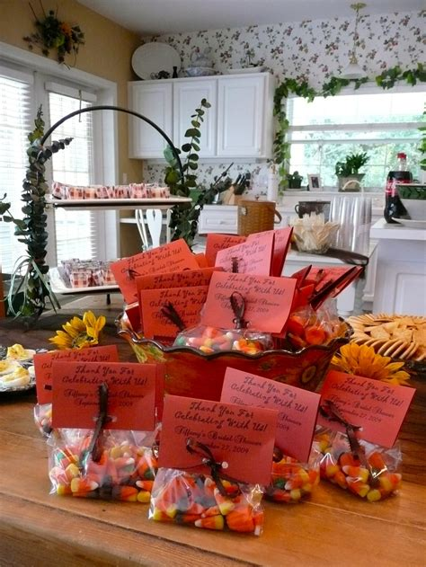 fall bridal shower decorating ideas fall bridal shower corn favors bridal shower