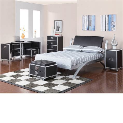 metal bedroom set dreamfurniture com leclair black and metal youth bedroom