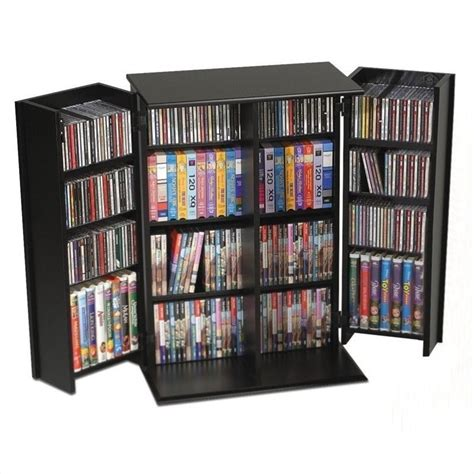 dvd storage prepac locking cd dvd media storage cabinet black ebay