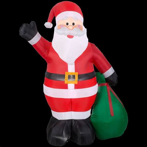 home accents 6 5 ft h santa with gift