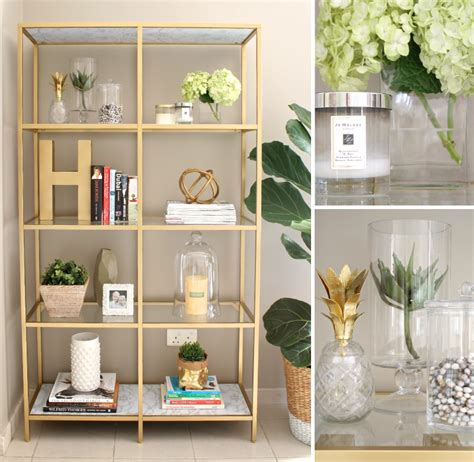 The Livingroom Candidate by Transform A Vittsj 214 Shelving Unit Into An Elegant Gold