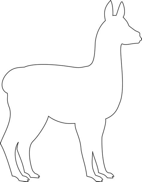felt llama pattern lama template dieren pinterest template felting and