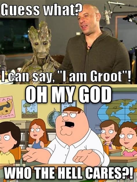 Guess Who Meme - guess what i can say quot i am groot quot i am groot know