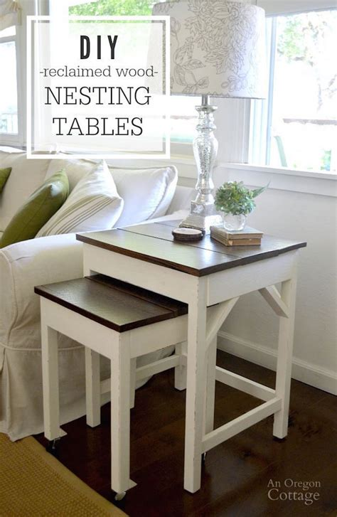 reclaimed wood table diy diy reclaimed wood nesting tables