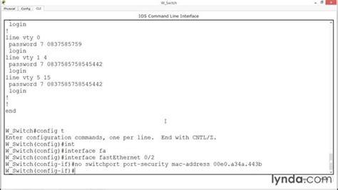 cisco packet tracer tutorial lynda understanding switch port security
