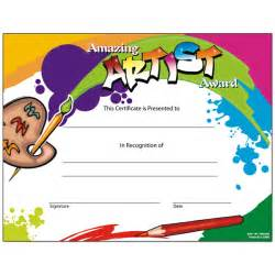 amazing artist award certificates set of 30