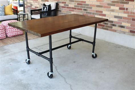 Diy Industrial Desk Diy Plumbing Pipe Table Tutorial