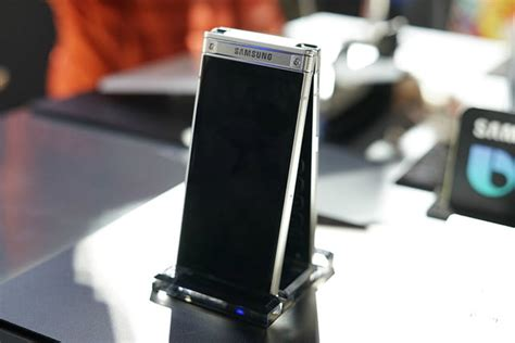Samsung W Flip Phone Samsung S W2018 Combines The Best Features Of Smartphones And Flip Phones