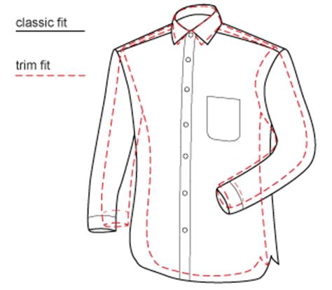 shirt pattern diagram classic white twill spread collar in trim fit