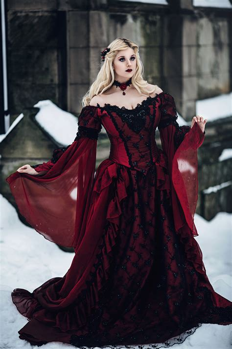 victorian gothic new gothic sleeping beauty or medieval fantasy gown custom