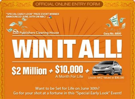 Pch Com Sweepstakes Entry Form - nbc the pch com win it all giveaway sweepstakes pit