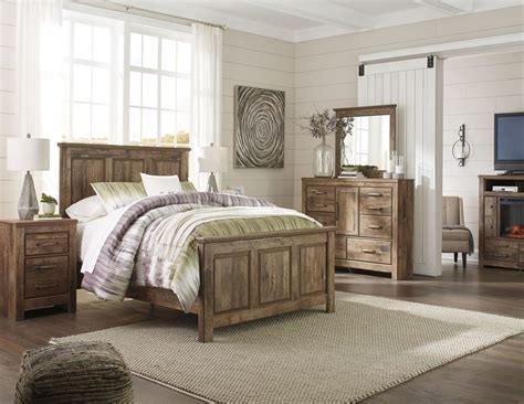 Panel Bedroom Set by Blaneville Brown Panel Bedroom Set From Coleman