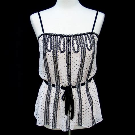Cut Out Top Polka Ready Only Gray bcbg max azria black polka dot lace dotted blouse