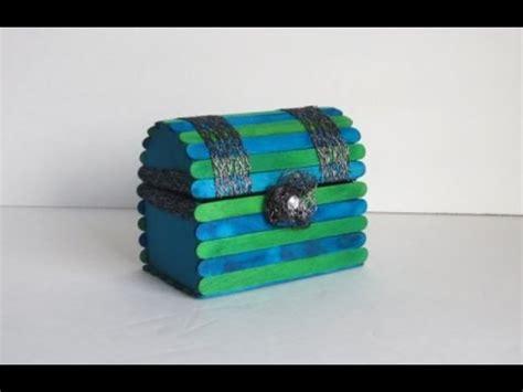 Box Stik diy jewelry chest with popsicle sticks