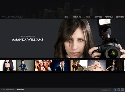 Photographer Html5 Template Best Website Templates Photography Template