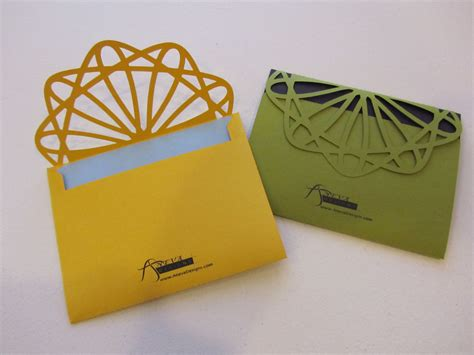 Handmade Envelope Designs - designer cut envelopes aneva designs llc