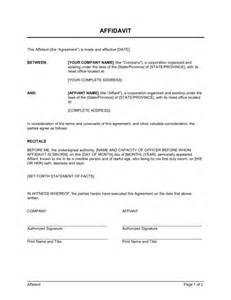 affidavit template affidavit format template sle form biztree