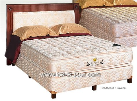 Americana Set Kasur Bed Royal Salute 100 X 200 new royal salute pillowtop 28 cm toko kasur