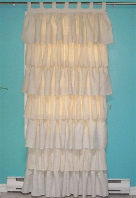 burlap ruffle curtains burlap and cotton ruffled curtain burlap cotton and