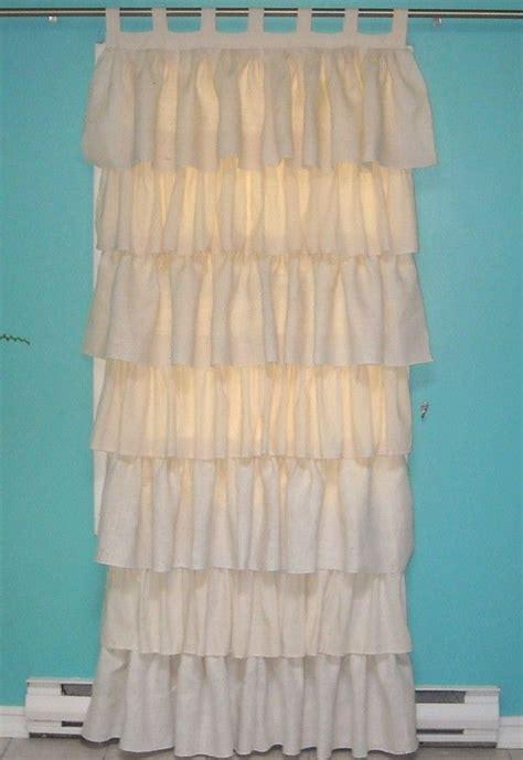 ivory burlap curtains burlap and cotton ruffled curtain burlap cotton and