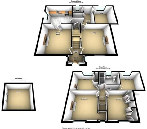 floor plan of the secret annex 4 bedroom detached house for sale in saddington road fleckney le8 8aw le8