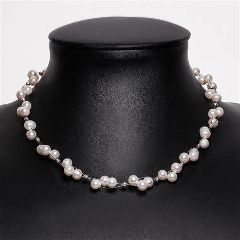Kette Perlen Hochzeit kette collier s 252 223 wasser perlen zuchtperlen creme wei 223