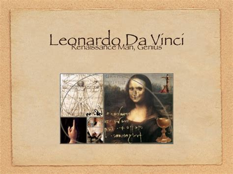 artist biography powerpoint leonardo da vinci ppt