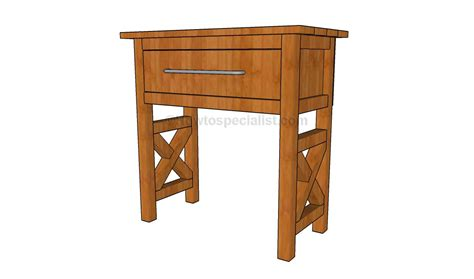 diy side table plans howtospecialist how to build bedside table plans howtospecialist how to build step